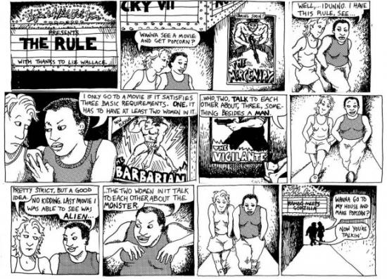 Bechdel test comic png